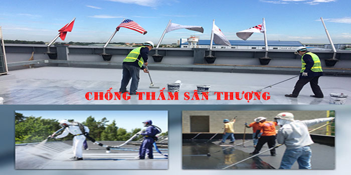 Chuyên xử lý chống thấm sân thượng tại Tphcm, Bình Dương, Đồng Nai