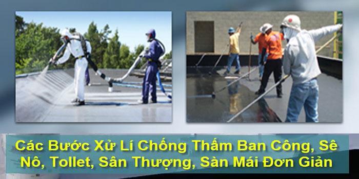 Chuyên xử lý chống thấm sân thượng