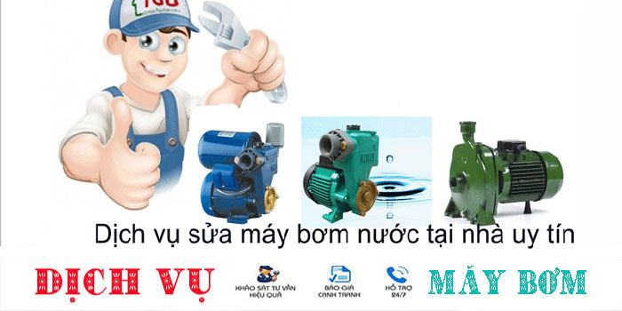 sửa máy bơm nước tại nhà quận Tân Bình uy tín