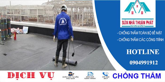 Chuyên chống thấm sân thượng tại quận Tân Phú