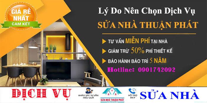 Lý do nên chọn dịch vụ sửa chữa nhà của Thuận Phát