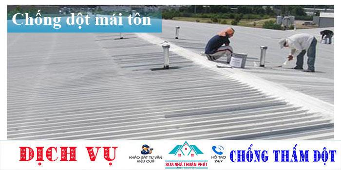 Thợ chống dột mái tôn quận Bình Thạnh
