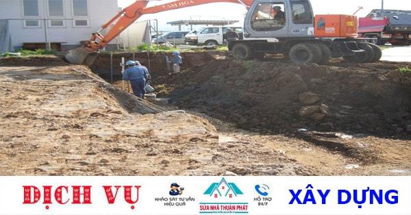 Dịch vụ đào móng nhà