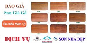 Báo giá thi công sơn giả gỗ